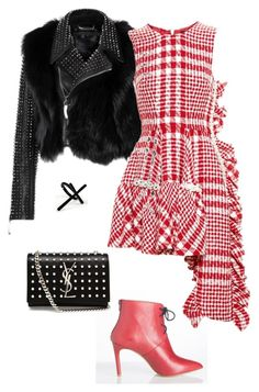 A fashion look from September 2015 featuring tweed dress, genuine leather biker jacket and genuine leather shoulder bag. Browse and shop related looks. Sassy, Yves Saint Laurent, Jewellery, Winter, Polyvore, Stuff To Buy, Shopping, Collection, Design