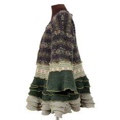 Woodsworth super bundly reconstructed sweater tunic - Secret Lentil Clothing