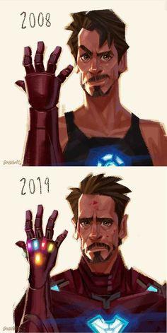 Iron Man 2008 and 2019 - Iron Man Evolution Marvel Comics, Marvel Jokes, Marvel Fan, Marvel Heroes, Iron Man Wallpaper, Marvel Wallpaper, Marvel Drawings, Mundo Comic, The Avengers
