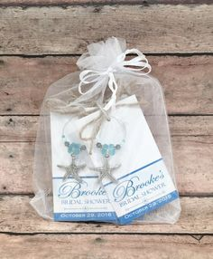 Beach Bridal Shower Favors, Beach Wedding Favors Starfish Wedding Personalized Favor Tags Wine Charms Personalized Bridal Shower Wine Charms _____________________________________ You will be proud to give these personalized beach bridal shower favors as gifts! Each starfish charm