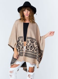 Make all your GF's jealous with this chic tribal poncho.