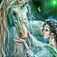 My Unicorn and Elf love art. Studio S, Art Studios, Love Art, Art Art, Elf, Unicorn, My Arts, Princess Zelda, Fictional Characters