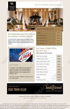 Travel flyer inspiration Pre Christmas, Christmas And New Year, Newsletter Example, New York Hotels, Design Ideas, Design Inspiration, Email Design, Newsletter Templates, Travel And Tourism