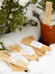 Ceramic Plant Markers Rustic Herb Labels Reusable Pottery Garden Tags 16 th Dec