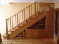As with every other area of your property the steps will ultimately put on out and have to be replaced or refinished. This is also true for that basement stairs. Small Space Living, Small Spaces, Basement Stairs, Secret Rooms, Stair Storage, Under Stairs, Wine Cellar, Easy Diy, House Design