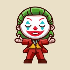 Check out this awesome 'Chibi Joker' design on Joker Chibi, Deadpool Chibi, Batman Chibi, Joker Cartoon, Chibi Marvel, Deadpool Kawaii, Joker Drawings, Alien Drawings, Cool Art Drawings