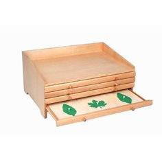 Montessori Science - Botany Leaf Cabinet with 24 Insets