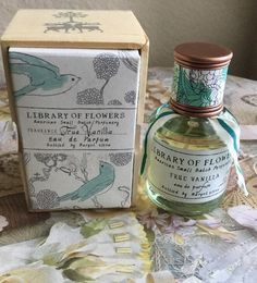 Library of Flowers True Vanilla Eau de Parfum 1 69 oz Anthropologie | eBay