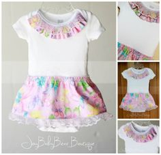 Ready to ship  Embellished Baby Girl Outfit by JoyBabyBear on Etsy, $18.00