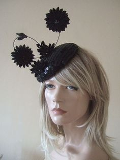 Black Sequin Covered Button Fascinator Japanese Tsumami Kanzashi. To see the source оf this item click on the picture. Please also visit my Etsy shop LarisaBоutique: https://www.etsy.com/shop/LarisaBoutique Thanks!