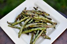 Super simple roasted green bean fries