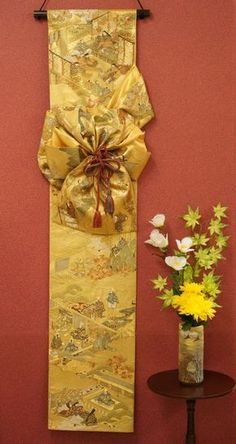 Handmade Wall Decoration of Japanese Formal Sash -The Tale of Genji - Nippon Tomodachi
