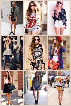 海外モデルのファッションコーデ♡