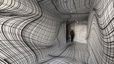 Austrian #artist #PeterKogler (@koglernet) has been creating some of the most visually warped, mind-bending rooms for over 30 years now. He doesn't just stick to the walls – he covers the floors and ceilings too and completely envelops the viewer with his hypnotizing #patterns. Photo by #VincentEverarts (h/t @colossal)