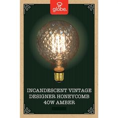 Globe Electric 40-Watt G Medium Base (E-26) Soft White Dimmable for Indoor or Enclosed Outdoor Use Only Incandescent Display Light Bulb