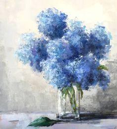 "Saatchi Art Artist Christina Dowdy; Painting, ""Hyrangea Blues"" #art"