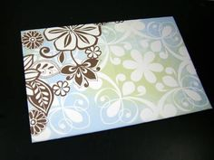 Decorative envelope from just a piece of square paper and glue.