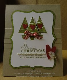 Stampin' & Scrappin' with Stasia: Simply Scored Christmas Card