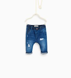 Image 1 of Contrast fabric jeans from Zara