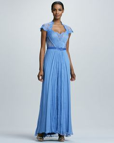 Lace Sweetheart Neckline Gown By Tadashi Shoji At Neiman Marcus