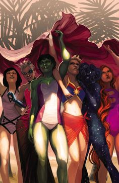 A-Force Characters | An ARTIST: Stephanie HANS