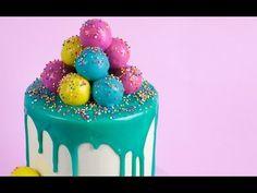 Color Drip Cake - How To Make White Chocolate Ganache - YouTube