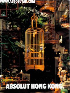 Absolut Hong Kong print ad. Digital Tsunami had the bird cage custom made for the campaign. www.digital-tsunami.com/project/absolut-photography/