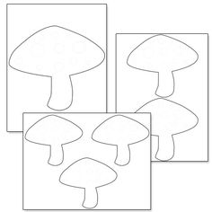 Printable Mushroom Template from PrintableTreats.com
