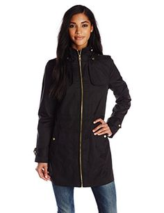 Cole Haan Women's Single Breasted Raincoat Anorak with Hood, Black, Small Cole Haan http://www.amazon.com/dp/B00PM7IZZ8/ref=cm_sw_r_pi_dp_xor8vb0ZSA7AW