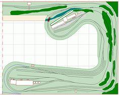 N scale model railroad layout track plan modern shortline