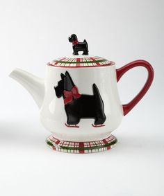 Take a look at this Scottie Plaid Teapot by Global Design on #zulily today!