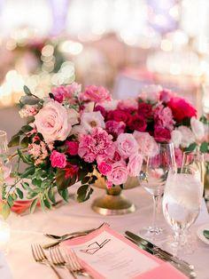 Pink Flower Centerpieces, Pink Wedding Decorations, Pink Wedding Theme, Floral Wedding, Wedding Colors, Wedding Bouquets, Wedding Flowers, Rose Wedding Centerpieces, Fuschia Wedding