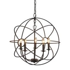 Y Decor Infinity 5-Light Rustic Bronze Mini Chandelier LZ2005-5-RS at The Home Depot - Mobile