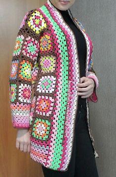 Granny Squares Cardigan Pattern (Done) | Beautiful Crochet Stuff