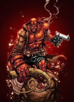 Hellboy  by Alonso Espinoza