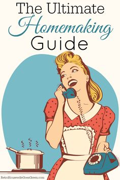 The Ultimate Homemaking Guide every homemaker needs to read.You can find Retro housewife and more on our website.The Ultimate Homemaking Guide every homemaker nee. Vintage Housewife, 1950s Housewife, Retro Advertising, Homekeeping, Diy Cleaners, Good Wife, Animal Design, Homemaking, Clean House