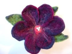 felted flowers | Felted Flower Brooch by jhammerberg | Other Ideas