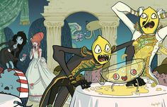 Lemongrab Party Time by kaytayto Adventure Time Cartoon, Adventure Time Anime, Abenteuerzeit Mit Finn Und Jake, Comics Und Cartoons, Marceline And Princess Bubblegum, Land Of Ooo, Jake The Dogs, Bubbline, Fiction