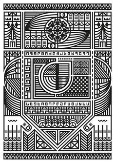 Showcase of Stylish Single Weight Line Art Illustrations Illustration Art Nouveau, Line Illustration, Line Patterns, Textures Patterns, Deco Kids, Art Simple, Art Watercolor, Morris, Art Anime