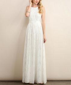 Look what I found on #zulily! Cream Sequin Maxi Dress #zulilyfinds