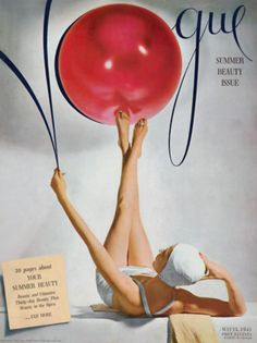 Vintage Poster - Vogue Cover 1941 - Fashion - Beach #spiaggia #deco #essenzadiriviera www.varaldocosmetica.it/en