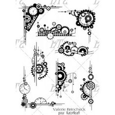 And a 2nd sheet of Steampunk Gear stamps new at Katzelkraft!