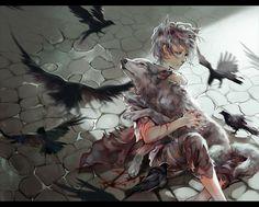 Crow by iya-chen (via anipan.com)