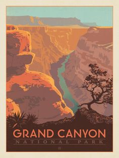 Anderson Design Group – American National Parks – Grand Canyon National Park: River View
