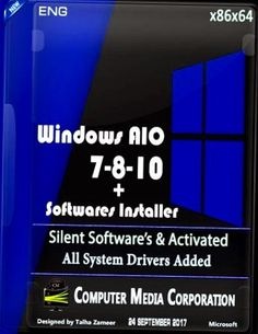 Windows AIO 7 8 10 X86 X64 Software Installer