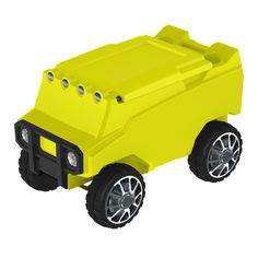 Remote Control ATV Cooler w/ Bluetooth in Neon Yellow Body & Neon Yellow Top