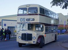 Leicester City Transport 217 AJF - Park Royal bodied AEC Bridgemaster, new in 1961 © David Bell. Blue Bus, Double Decker Bus, Bus Coach, Classic Motors, West Midlands, Leicester, Coaches, Old Cars, Buses