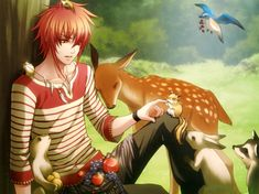Hot anime guy + cute animals = Awesomeness!