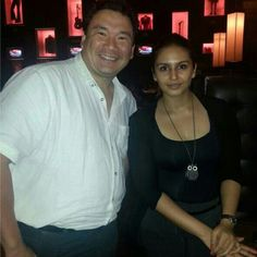 Celebrity Spotting: Stunning #HumaQureshi with our GM, Ernest Wu at Hard Rock Cafe Mumbai recently.