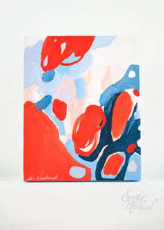 Color Study no. 5 Original Abstract Acrylic Painting. $40.00, via Etsy.